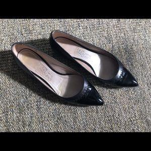 Salvatore Ferragamo Flats - Two-Tone Black Leather